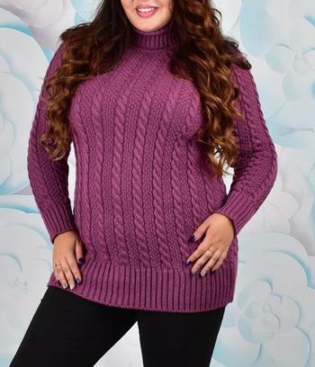 """Удлиненный свитер """"Коса"""""""