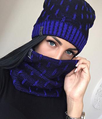 Шапка женская + шарф-хомут