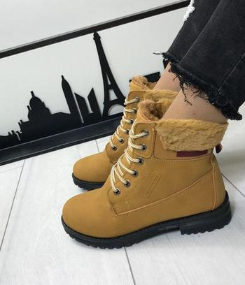 Женские зимние ботинки тимберленд