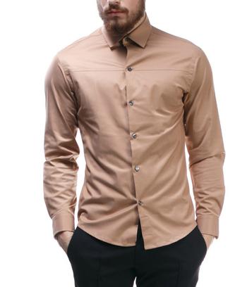 Мужская рубашка с разрезом на груди