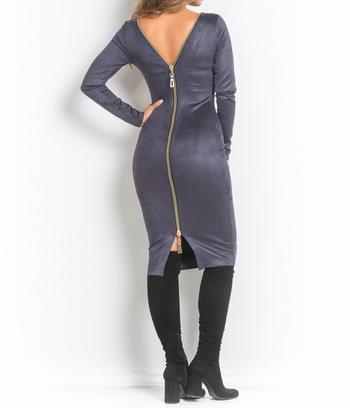Платье замшевое со змейкой на спинке