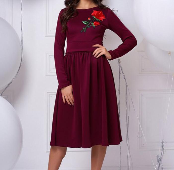 "Платье ""Тифани"" с розой"