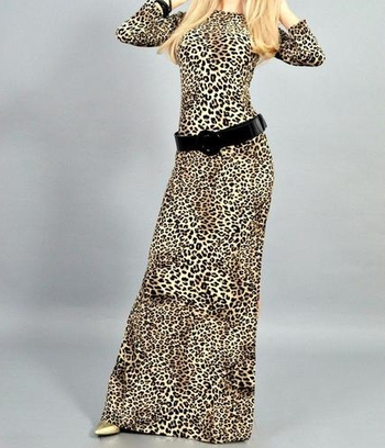 """Длинное платье """"Леопард"""""""