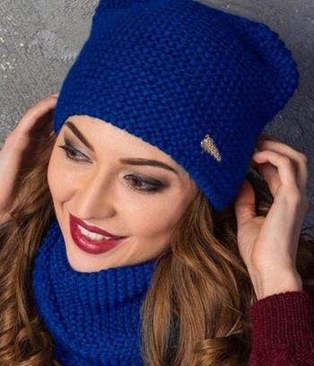 "Женская зимняя шапка на флисе ""Ирма"""