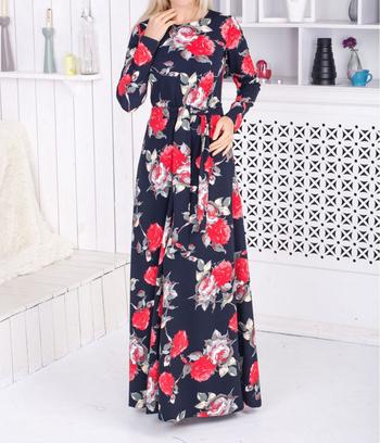 """Платье длинное """"Адель"""" роза"""