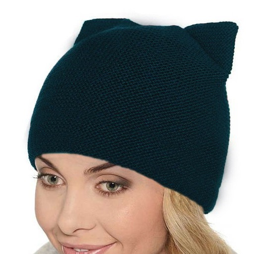 """Женская шапка """"Кошка"""""""