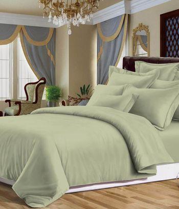 фисташковое постельное белье, однотонное постельное белье