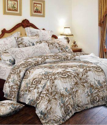 бежевое постельное белье