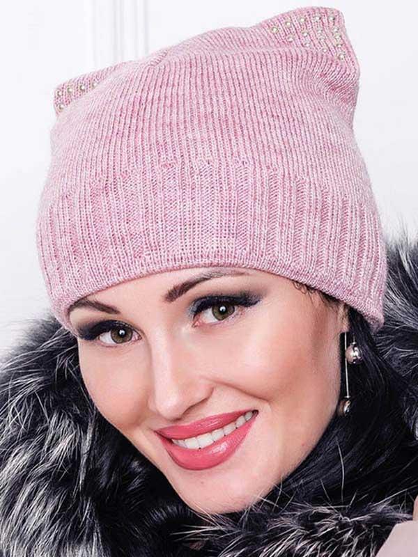 шапки со стразами, женские шапки