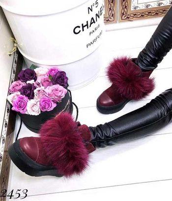 """Модные зимние женские ботинки натуралки """"Беатрис"""""""