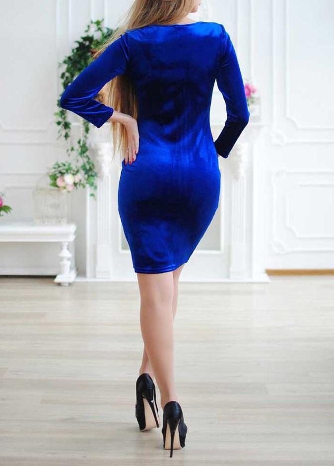 """Велюровое платье """"Камелия"""""""