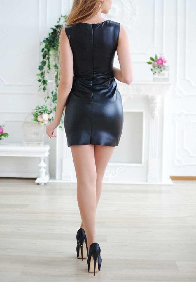 """Платье из эко кожи """"Жасмин"""""""