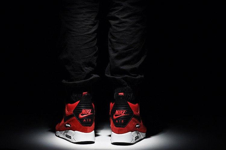 "Кроссовки мужские теплые ""Nike Air Max 90 Winter sneakerboot"""