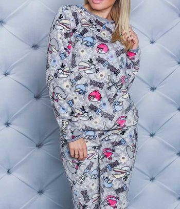"""Пижама женская махровая""""Angry Birds"""""""