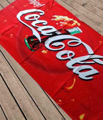 """Пляжное полотенце """"Coca-cola"""""""