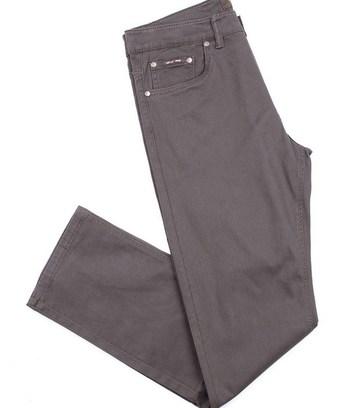 теплые мужские джинсы серые
