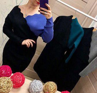 платья вязанные, теплые платья