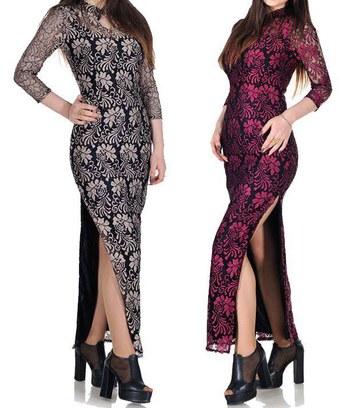 Роскошное длинное вечернее платье