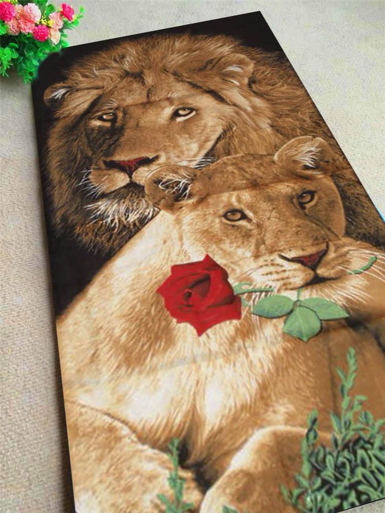 пляжные полотенца со львами, красивое полотенце для пляжа