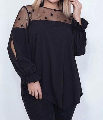 """Модная блузка больших размеров """"Луиза"""""""