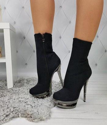 ботинки женские демисезонные, ботильоны из замши, модные женские ботильоны
