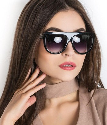 """Модные солнцезащитные прямоугольные очки """"Celine"""" (реплика)"""