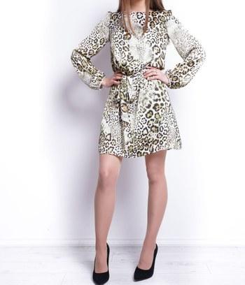 """Модное шифоновое платье с леопардовым принтом """"Дениза"""""""