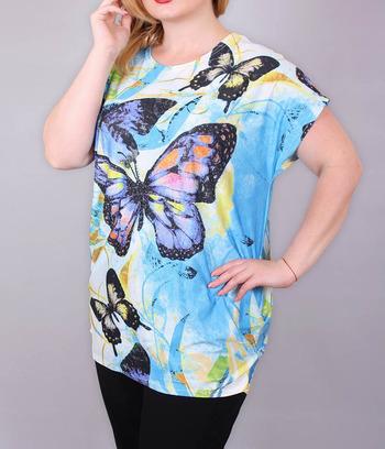 """Женская футболка больших размеров """"Butterfly"""""""