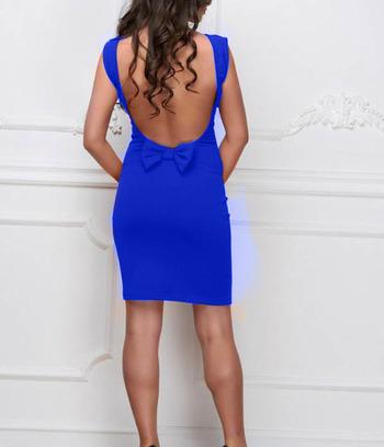 синее платье, платье вечернее