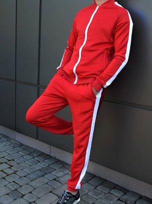 красный спортивный костюм, мужской темно-синий спортивный костюм, зелёный спортивный костюм