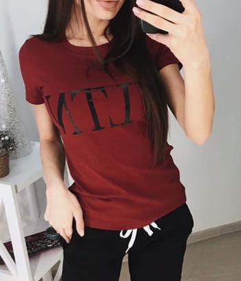 """Модная футболка больших размеров """"VLTN"""""""