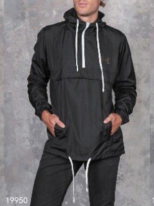 чёрный мужской анорак