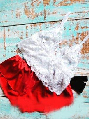 напор для сна, красная пижама, атласная пижама, кружевная пижама