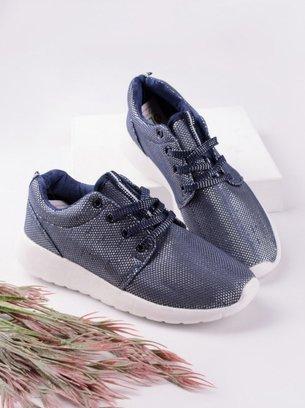синие кроссовки с люрексом
