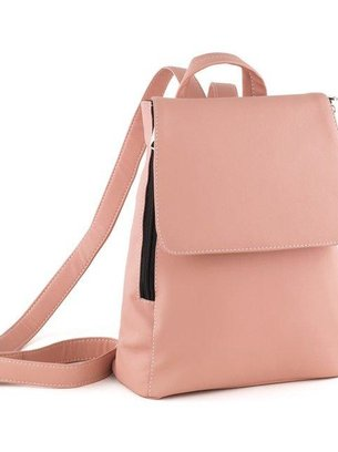 нежно розовый рюкзак