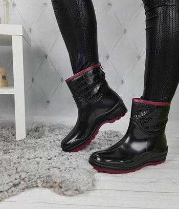 "Женские резиновые сапоги ботинки ""Милена"""
