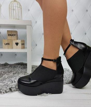 туфли женские из экокожи, модные туфли на высокой платформе