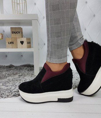 кроссовки женские слипоны, модные женские кроссовки на высокой платформе