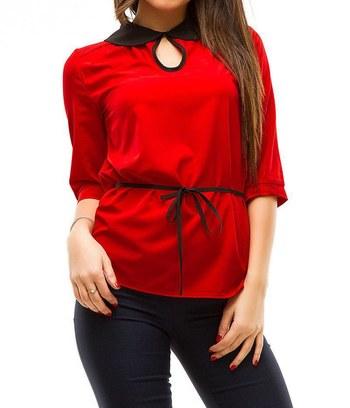 """Стильная блуза с отложным воротничком """"Алина"""""""