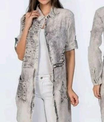 """Модная удлиненная женская рубашка """"Николь"""""""