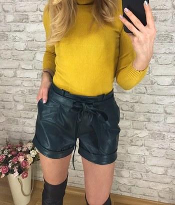 модные женские шорты, женские шорты из экокожи