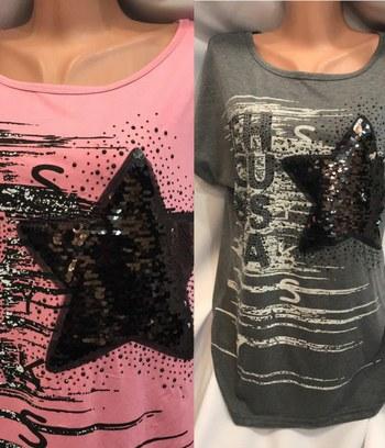модные женские футболки, женские футболки с пайетками
