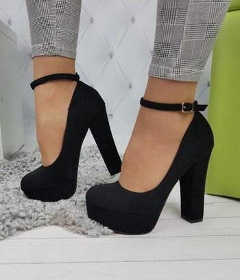 """Классические женские туфли на платформе с красной подошвой """"Бриджит"""""""