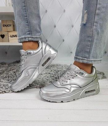 модные женские кроссовки, серебрянные женские кроссовки