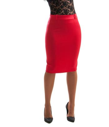 стильная классическая юбка карандаш, батальная юбка карандаш, черная юбка, красная юбка, синяя юбка, юбка бутылочного цвета