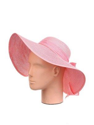 розовая большая шляпа