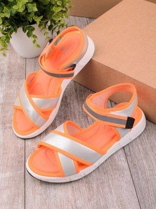 оранжевые босоножки повседневные