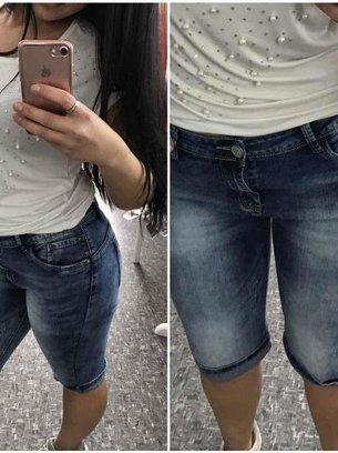 джинсовые синие бриджи
