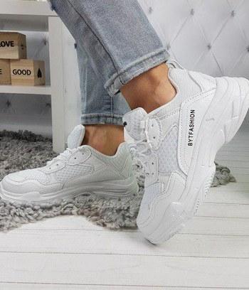 """Кроссовки белые на массивной подошве """"Balenciaga"""""""