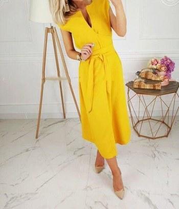 стильное классическое платье, модное повседневное платье, платье миди, летнее платье из софта